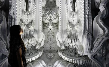 2013 schufen EH Forscher mittels 3D-Drucktechnologie einen Raum aus künstlichem Sandstein. (Hansmeyer, Dillenberger, ETH Zürich)