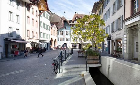 Altstadt Aarau (Foto: G. Bally / Keystone)