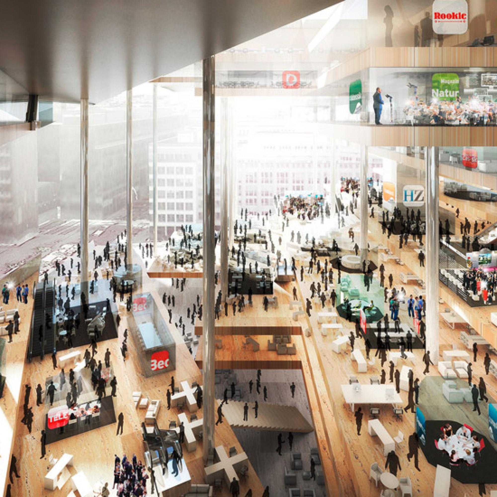 Visualisierung Mediencampus, Rem Koolhaas (Bild: PD)