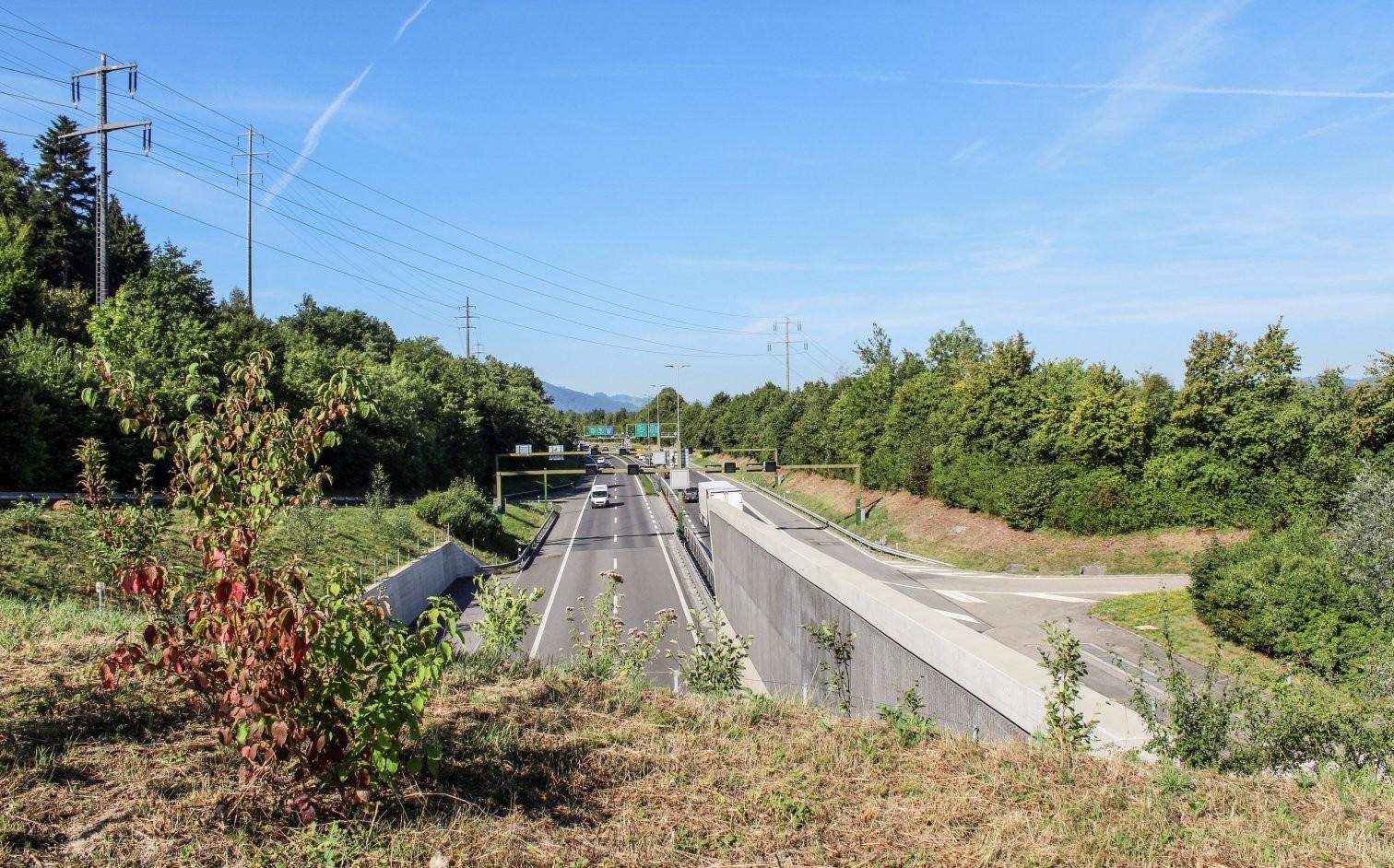 Rathausen-Tunnel vor der Stadt Luzern: Als Teil des Gesamtsystems Bypass soll er eine dritte Röhre erhalten.