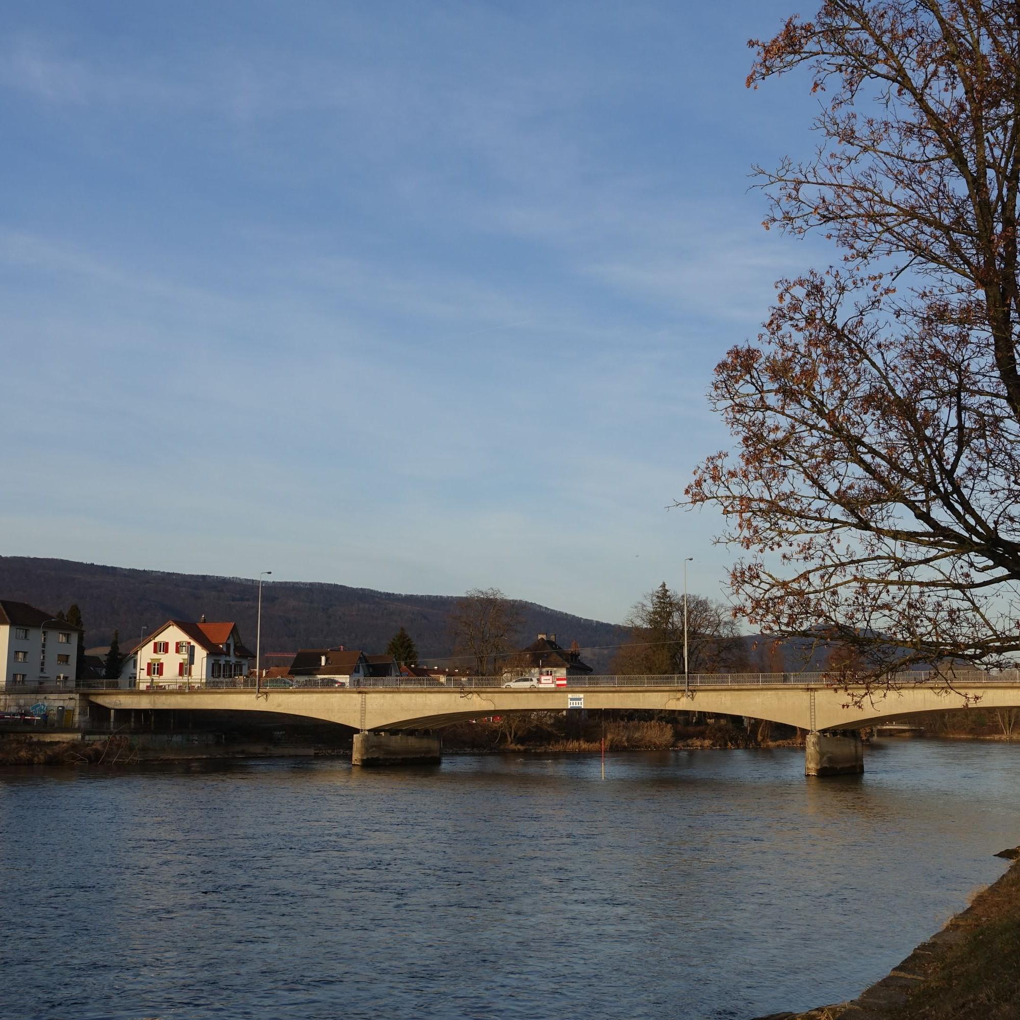 Die Kettenbrücke in Aarau wurde in diesem Jahr abgerissen.