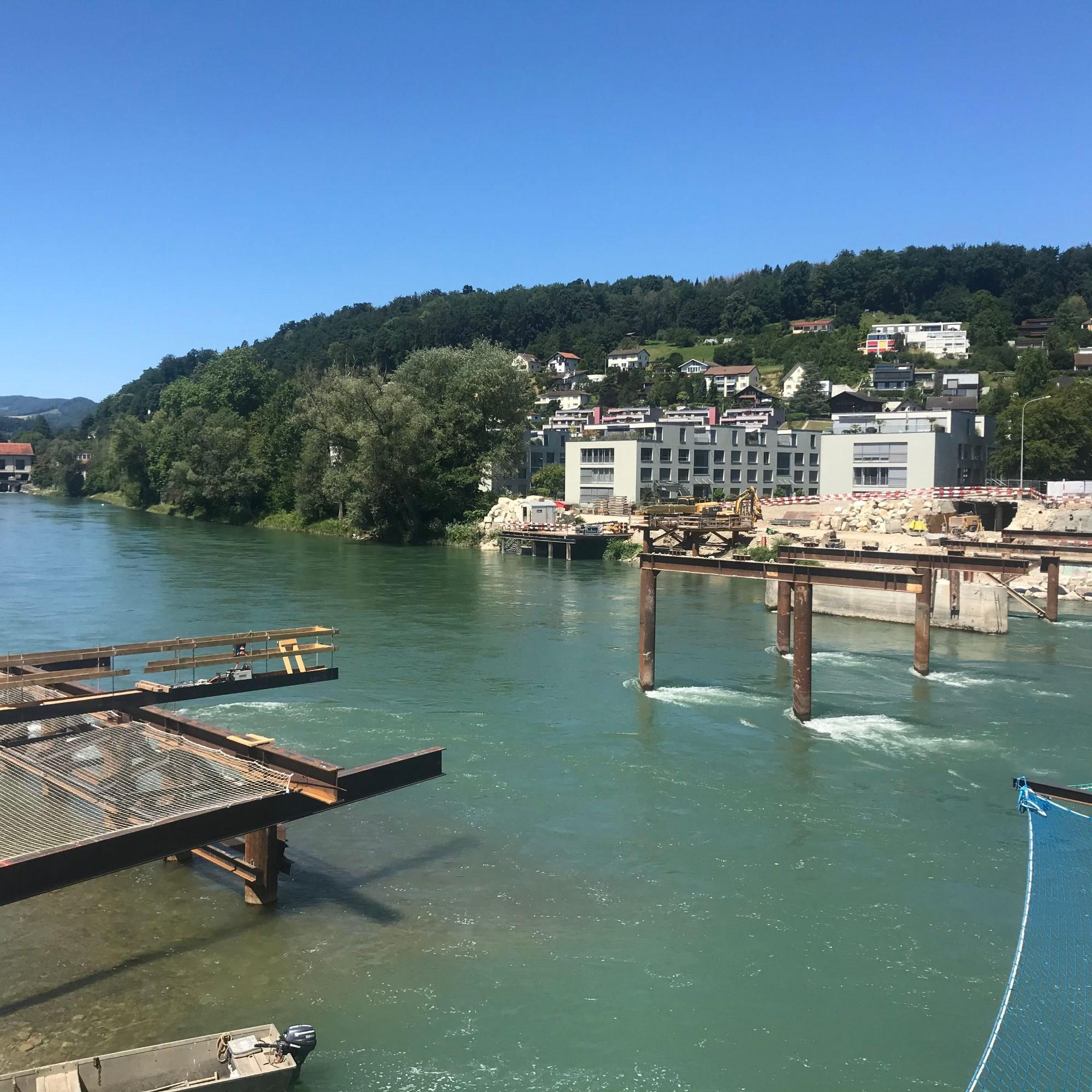 Die Vorbereitungsarbeiten für den Bau der Pont Neuf in Aarau sind gestartet.