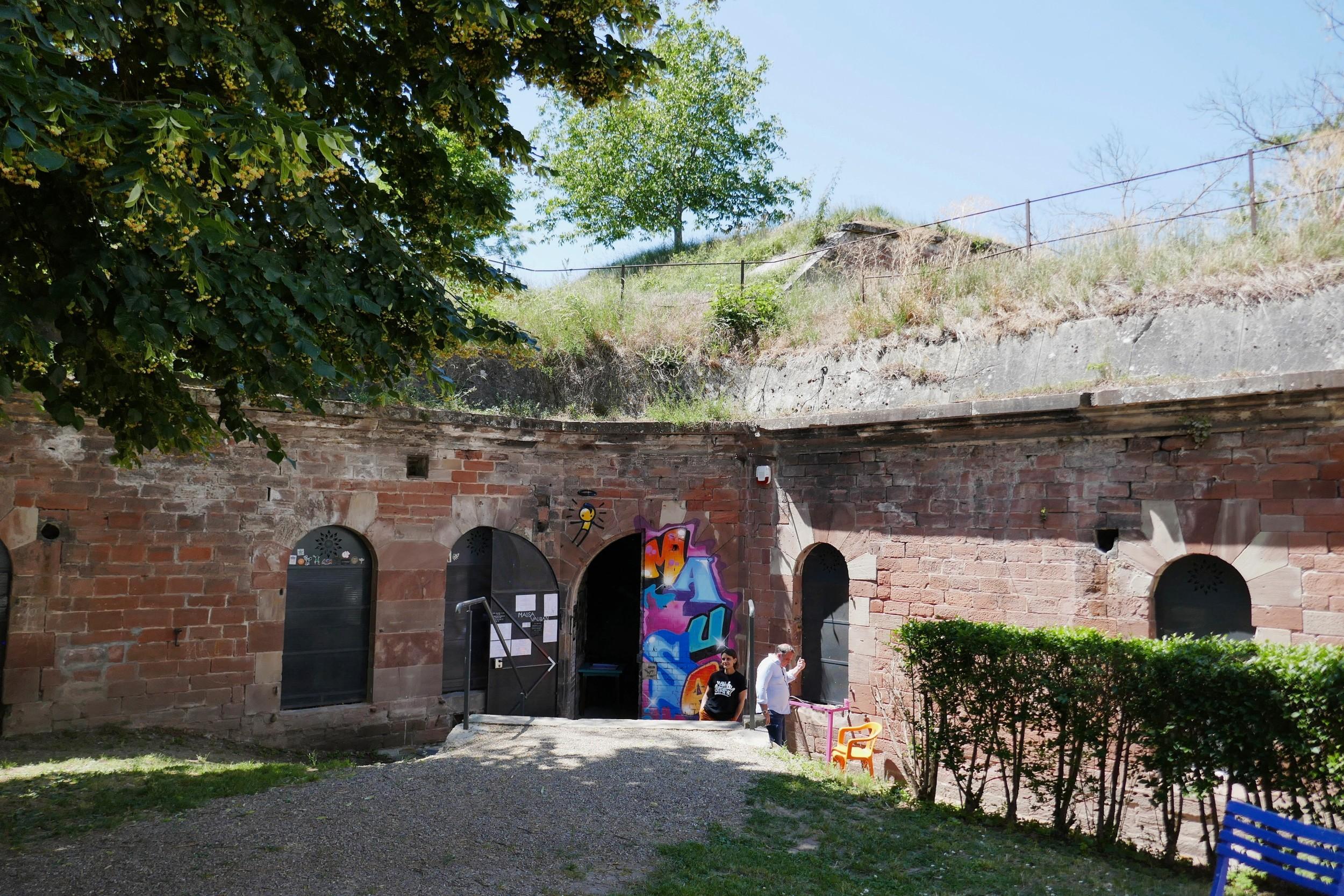 Museums-Eingang in der Festung von Neuf-Brisach