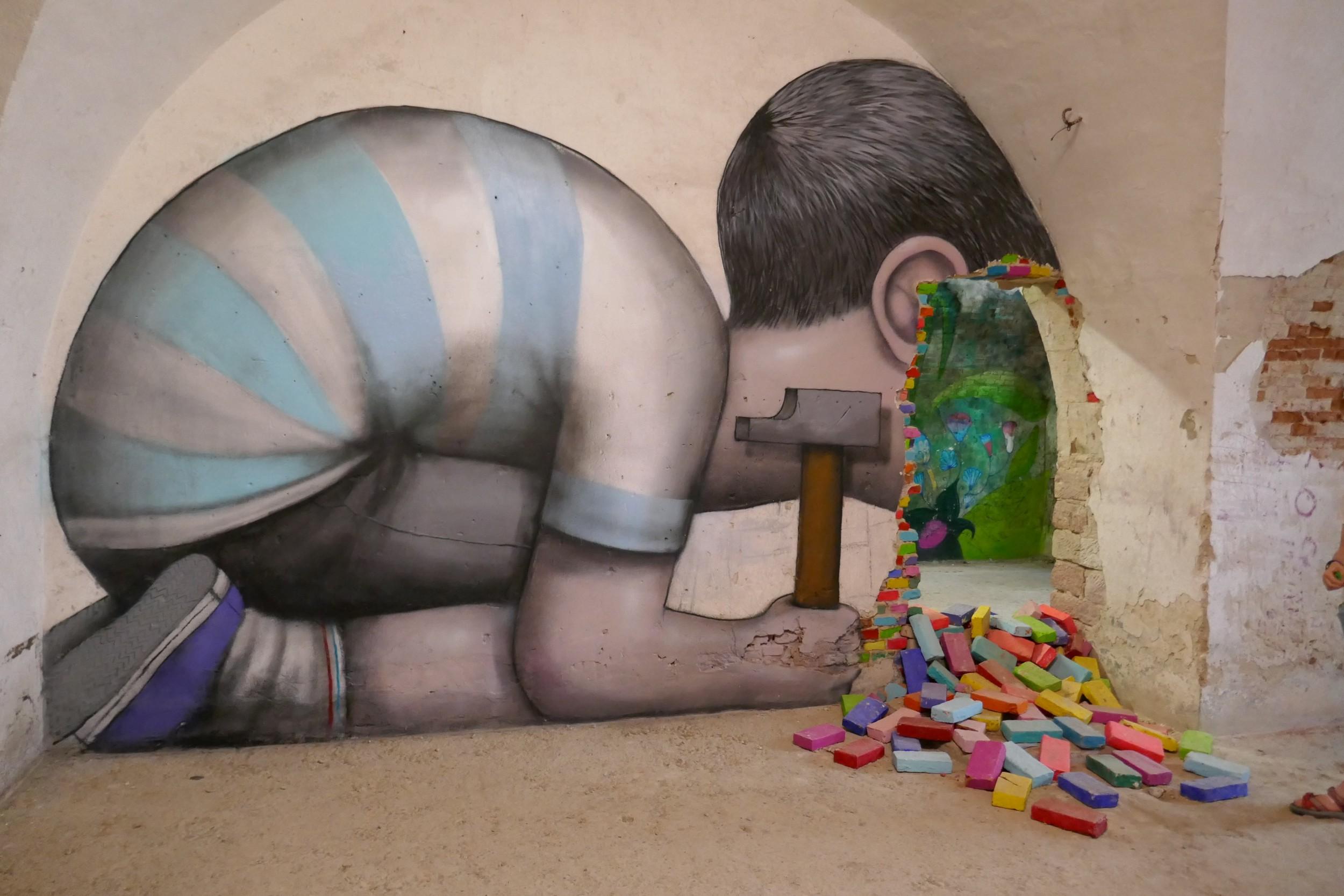 Werk des bekannten Graffiti-Künstlers «Seth»