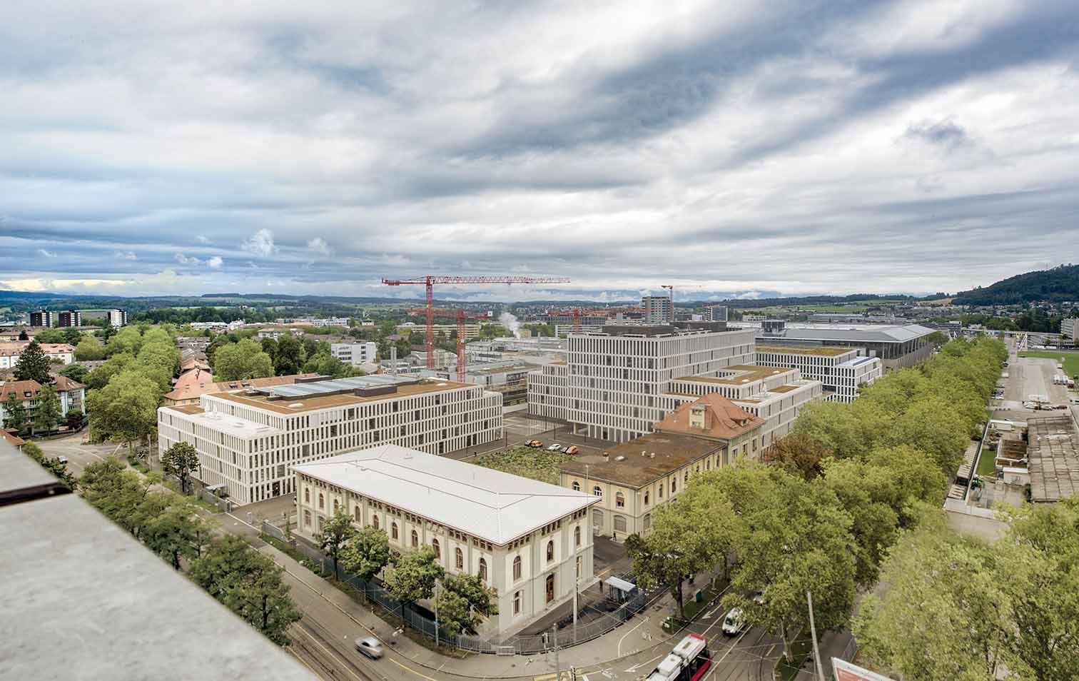 Baustelle zur Umnutzung des Zeughausareals in Bern