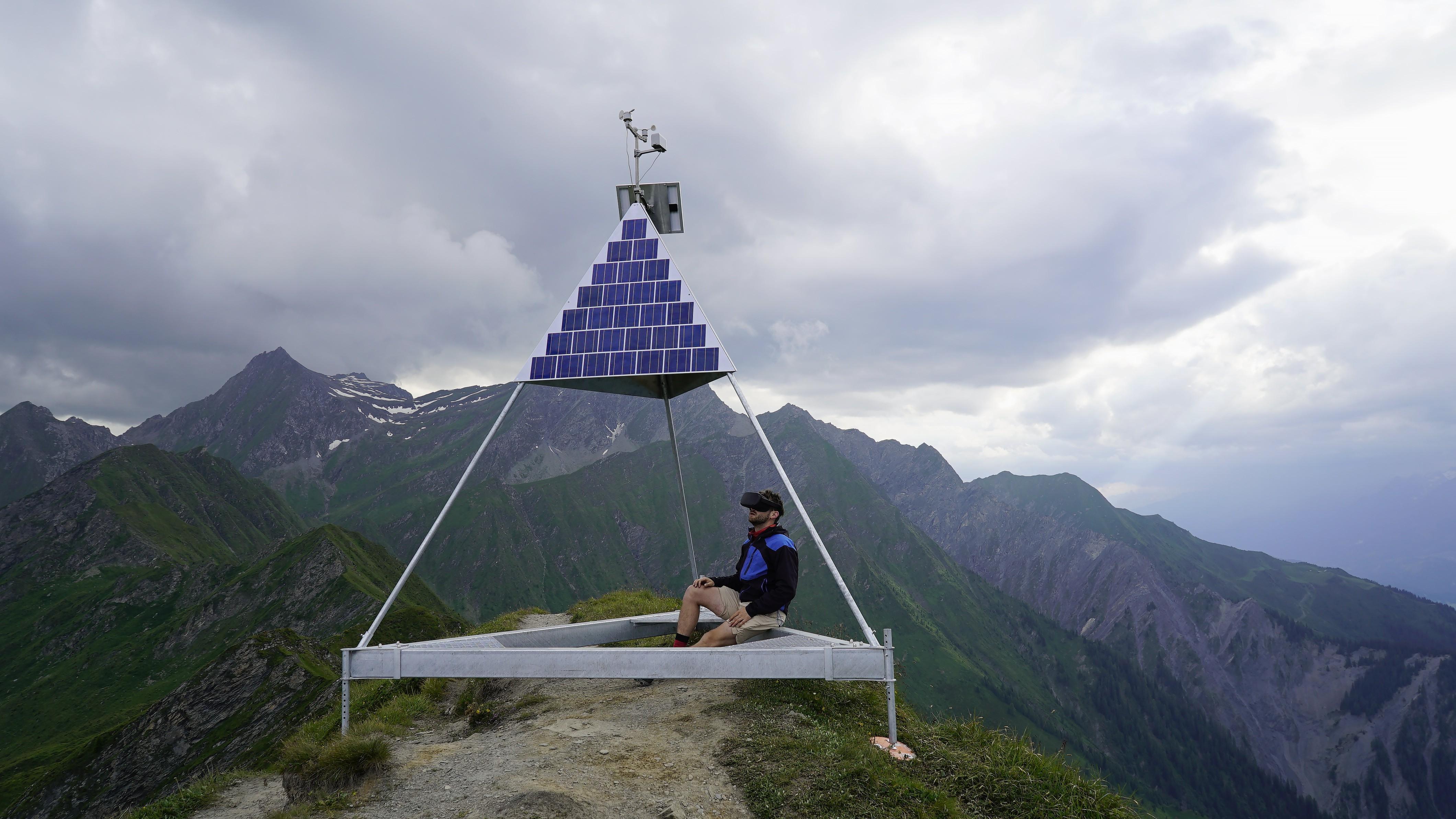 Solarbetriebene Wetterstation