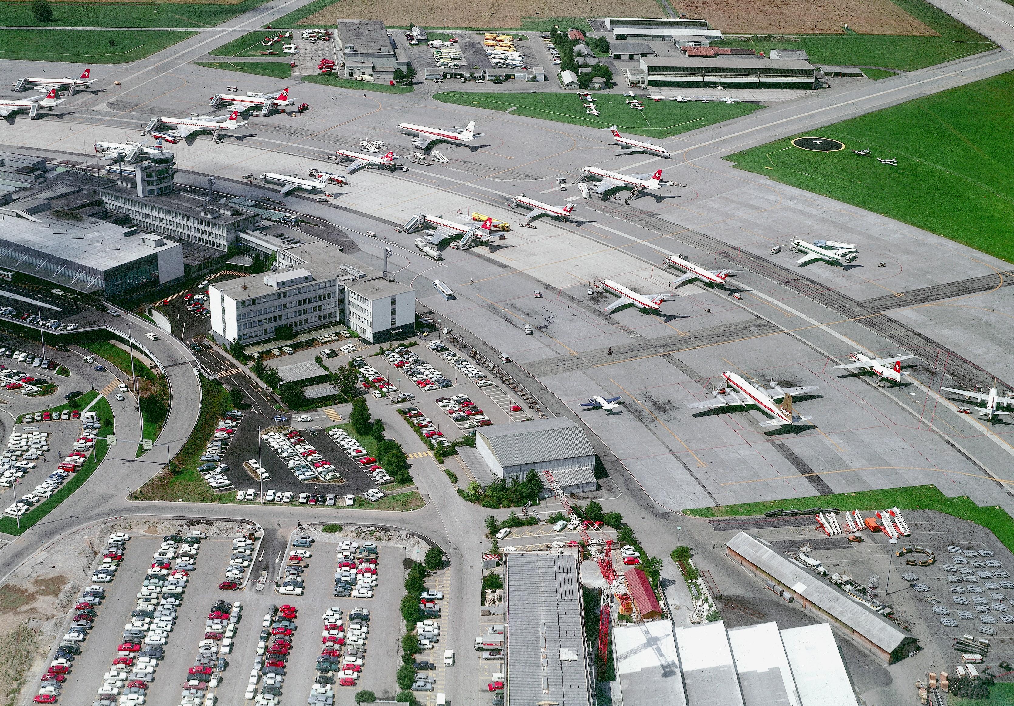 Zürich Flughafen im Jahr 1969