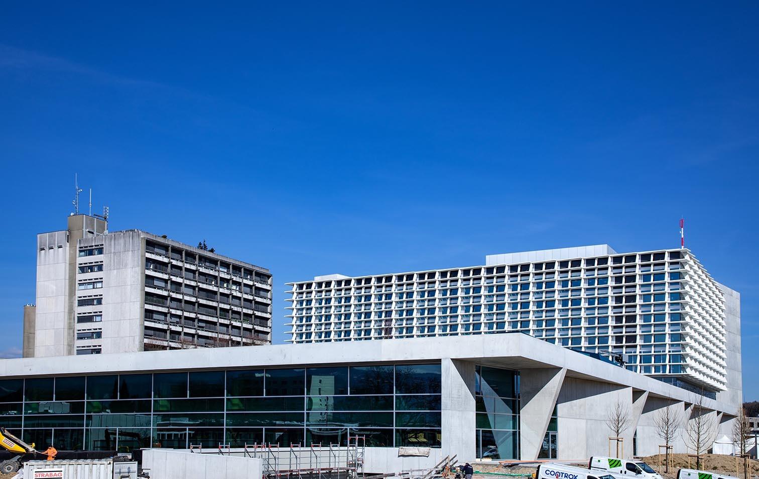 Neubau Bürgerspital Solothurn im März 2020