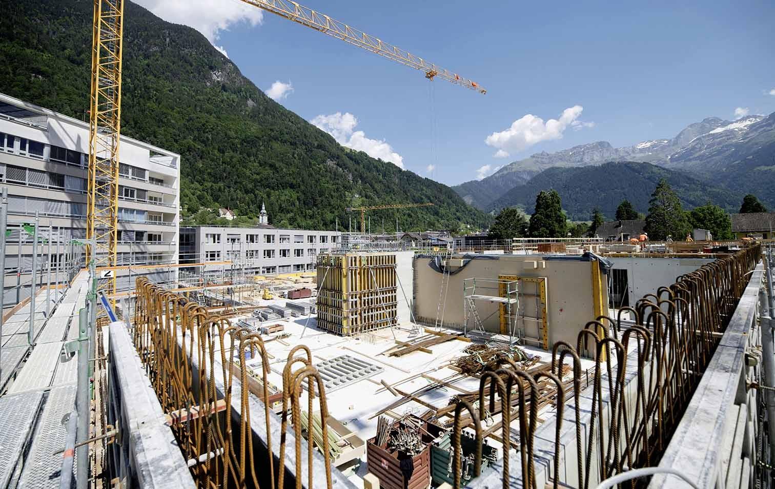 Baustelle Kantonsspital Uri in Altdorf
