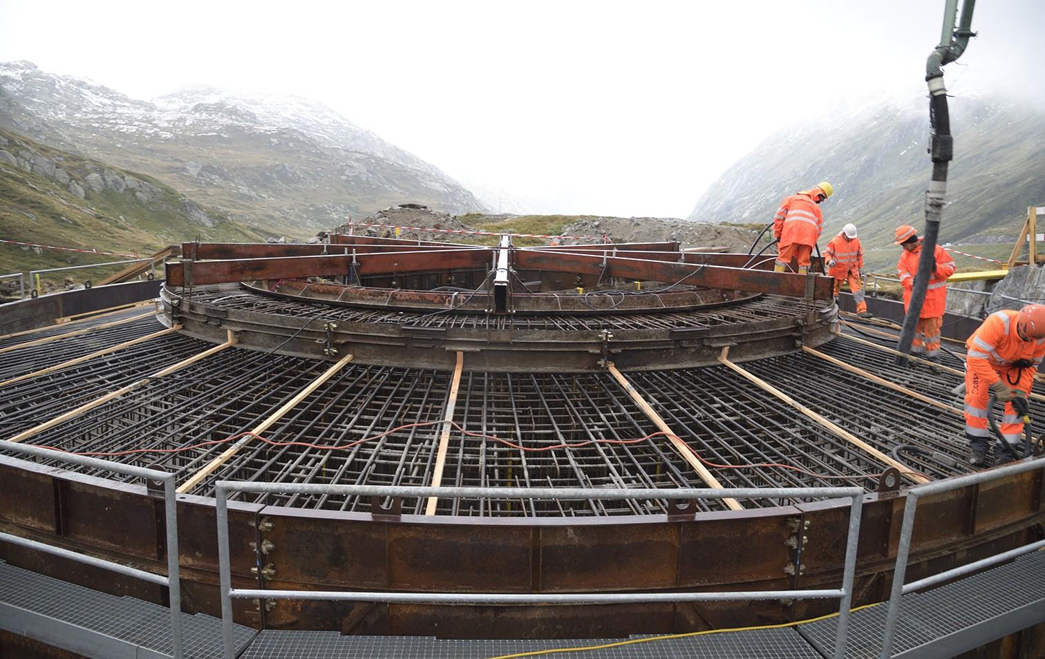 Baustelle zum Windpark auf dem Gotthardpass