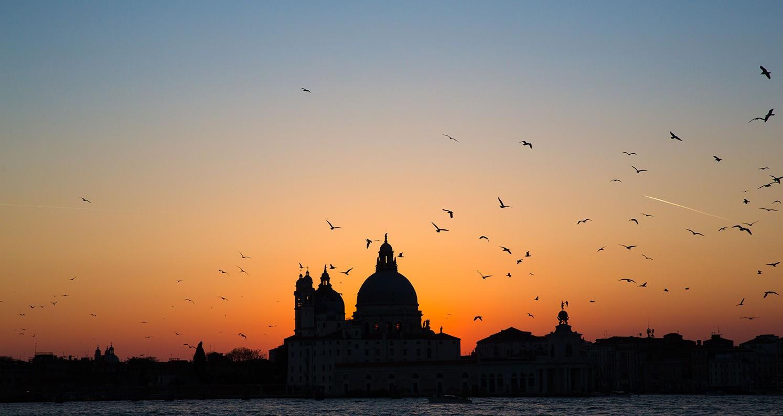 Venedig im Abendlicht (Panorama)