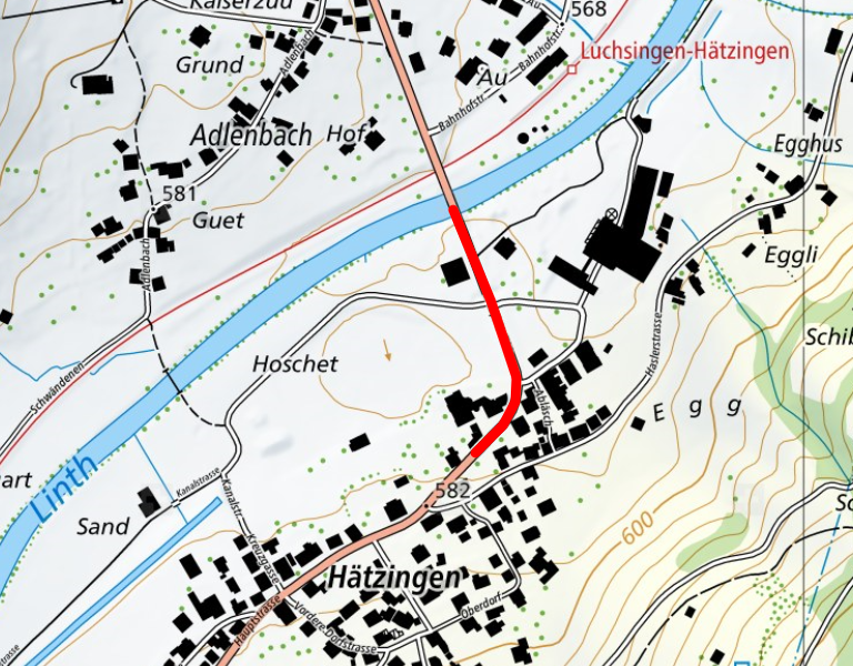 Strassensperrung in Hätzingen