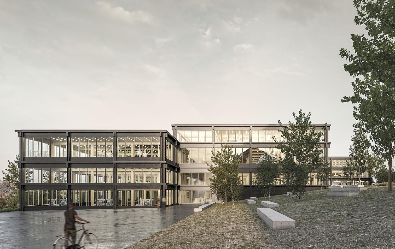 Visualisierung für den Neubau der Technischen Fachschule Bern