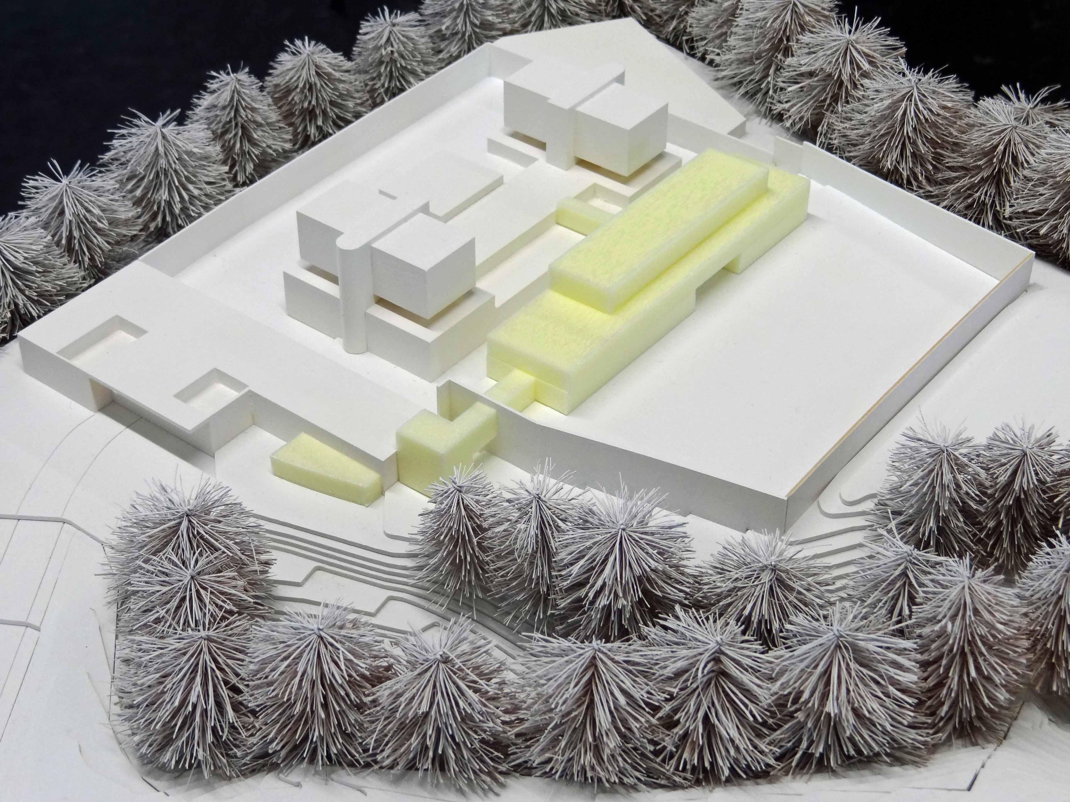 Modell der Justizvollzugsanstalt Bostadel
