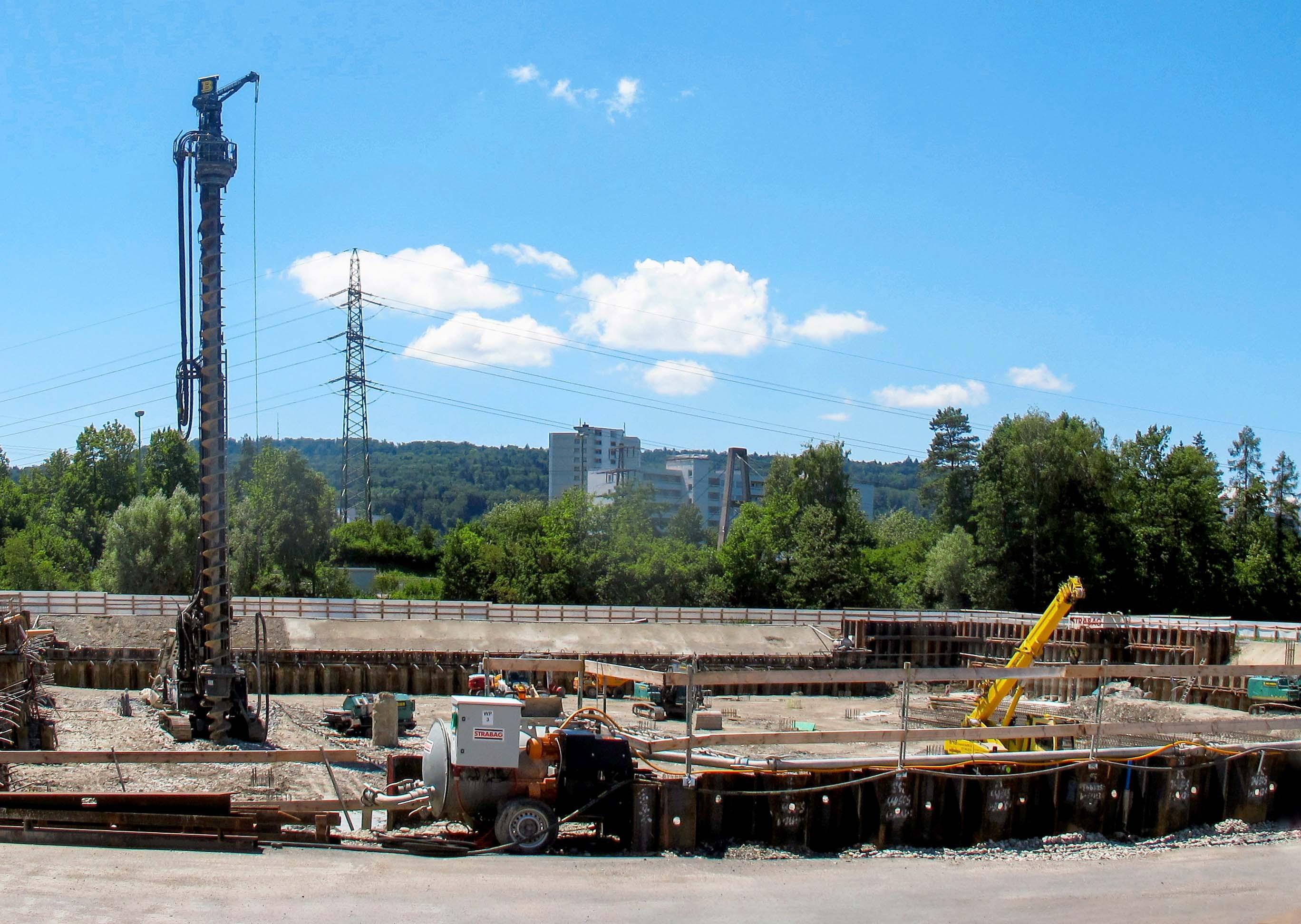 Baustelle in Wallisellen
