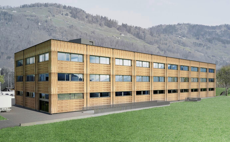 Visualisierung dreigeschossiges Gebäude in Wil