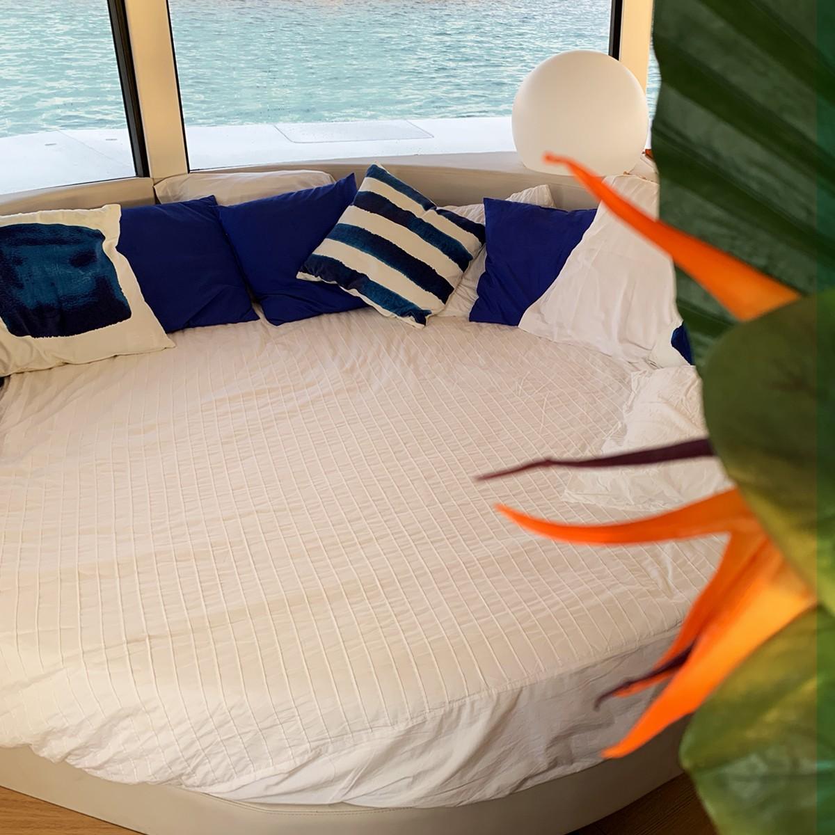 Schlafbereich im Anthénea Pod