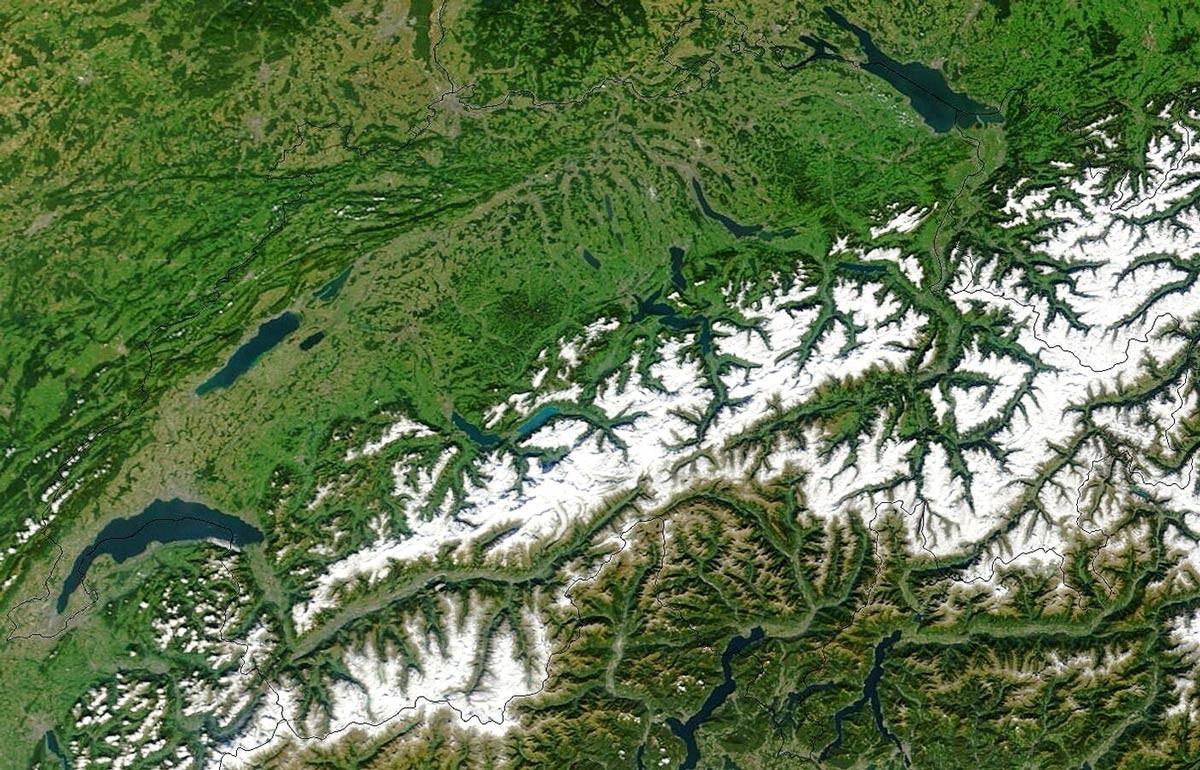 Die Schweiz aus dem Orbit (Symbolbild)