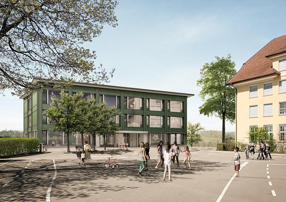 Visualisierung Schulhaus Littau Dorf