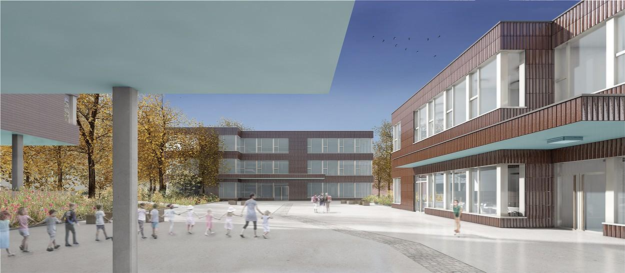 Visualisierung Schulanlage Rönnimoos in Luzern
