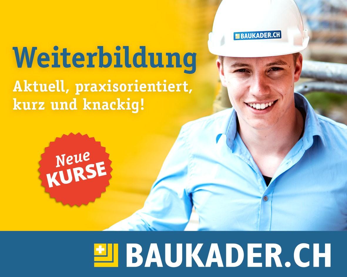 Neues Kursangebot bei Baukader Schweiz