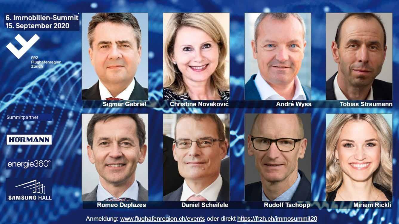 Referenten des 6. Immobilien-Summit in Dübendorf