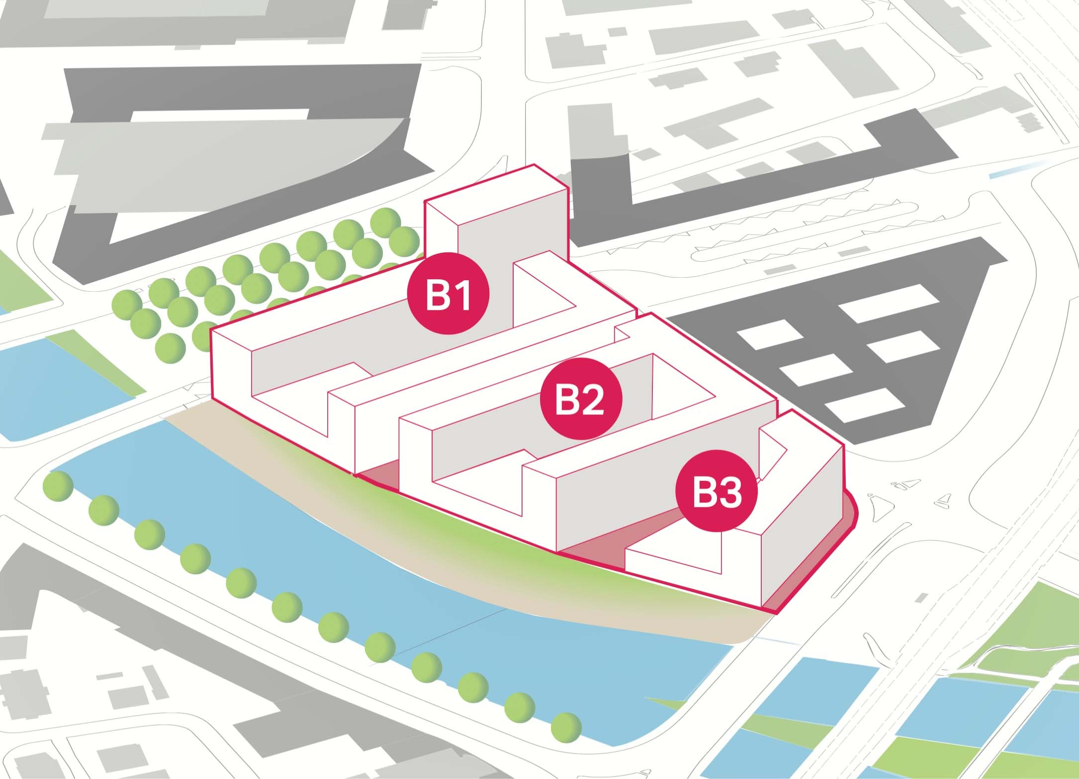Visualisierung des Seetalplatzes in Emmen, Luzern