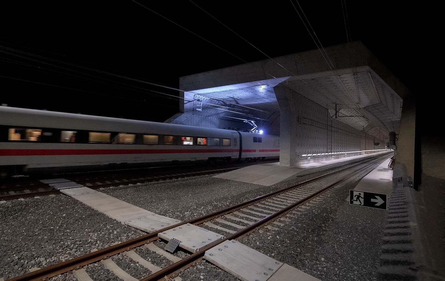 Hochtastfahrt durch den Ceneri-Basistunnel im Mai 2020