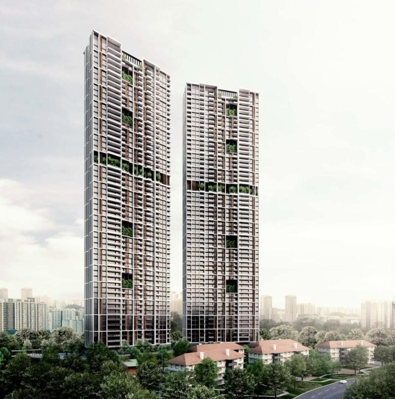 "Wolkenkratzer ""Avenue South Residences"" in Singapur"