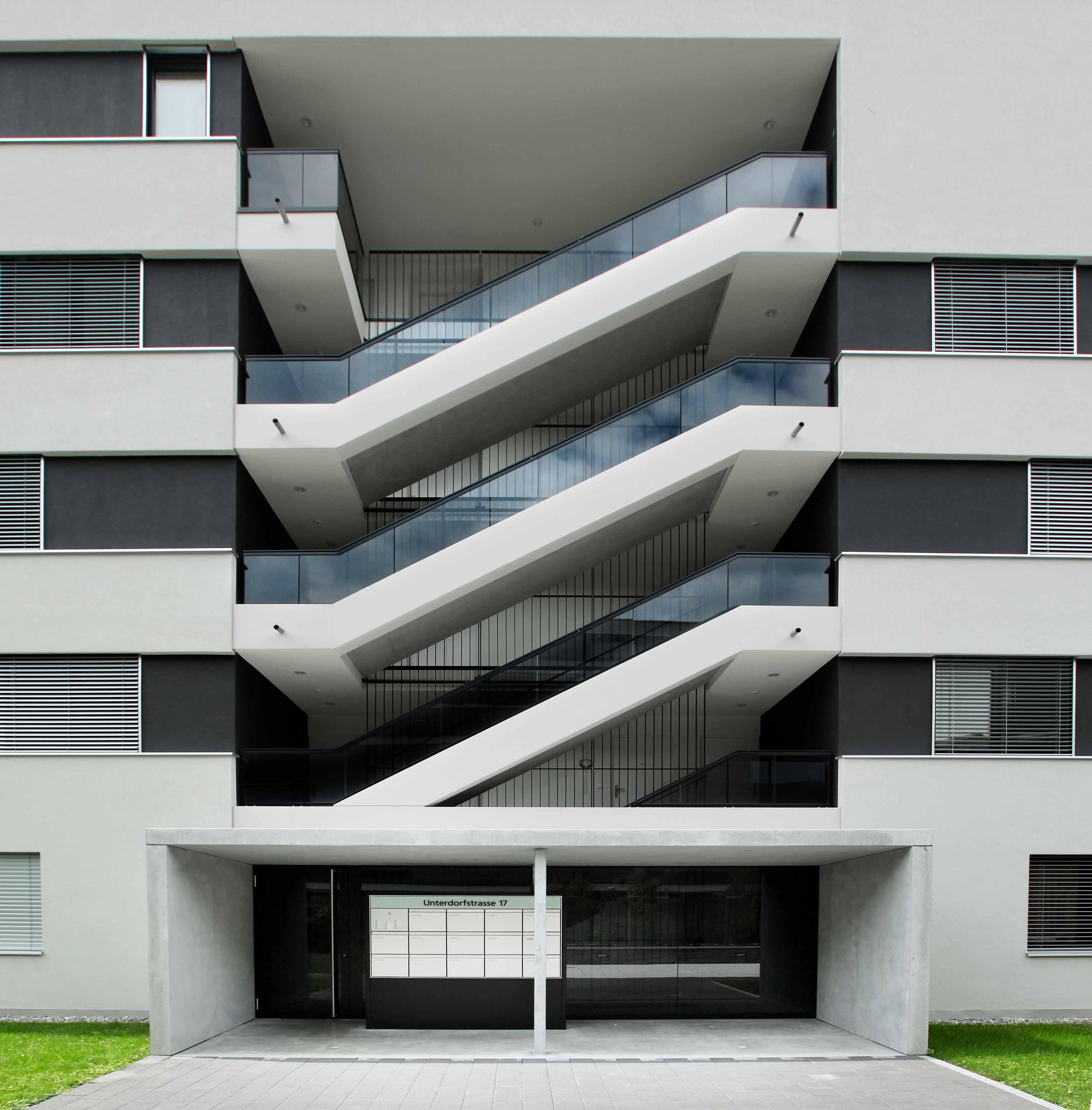 Treppe aus vorgefertigten Elementen