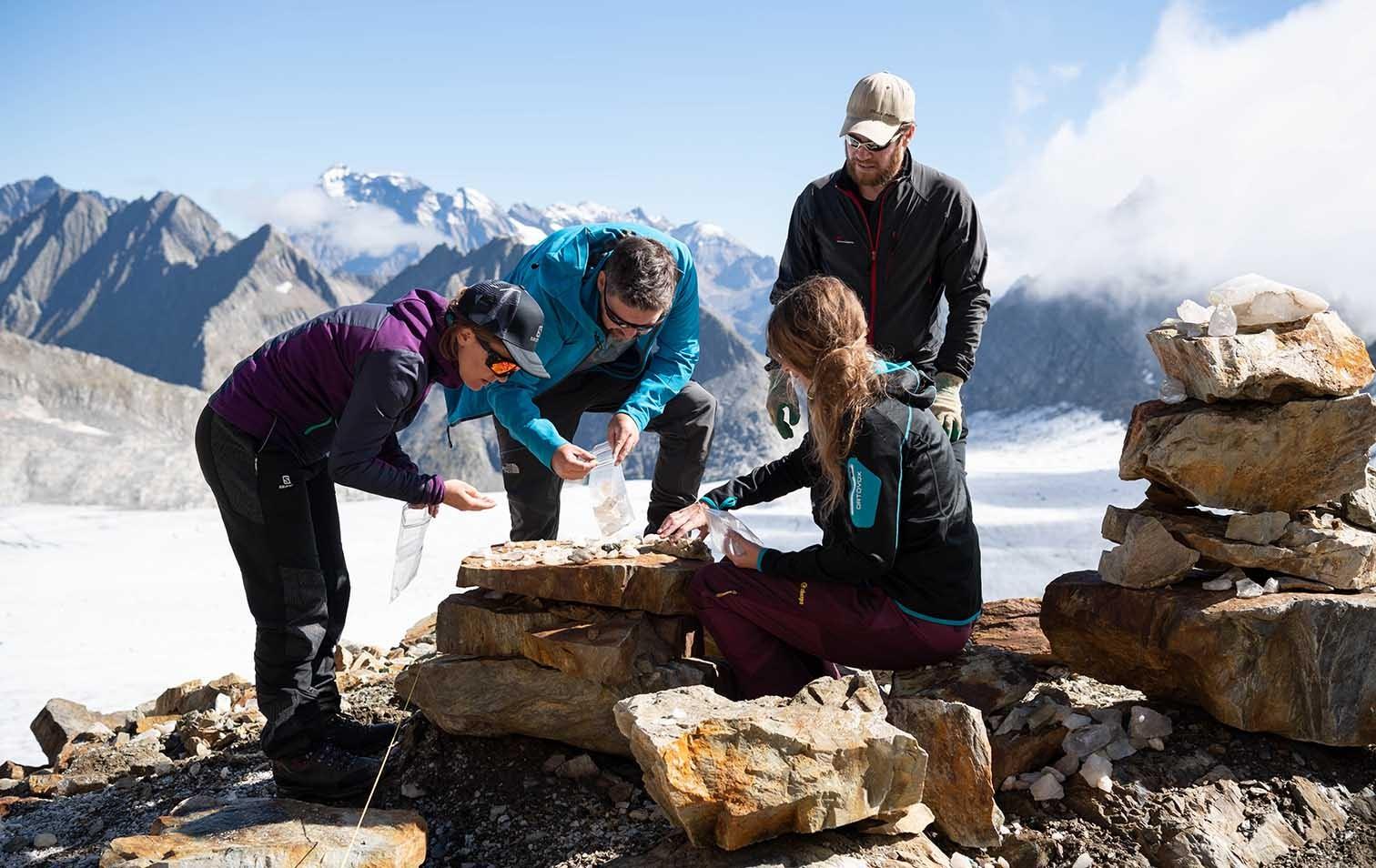 Grabungen am Oberalpstock