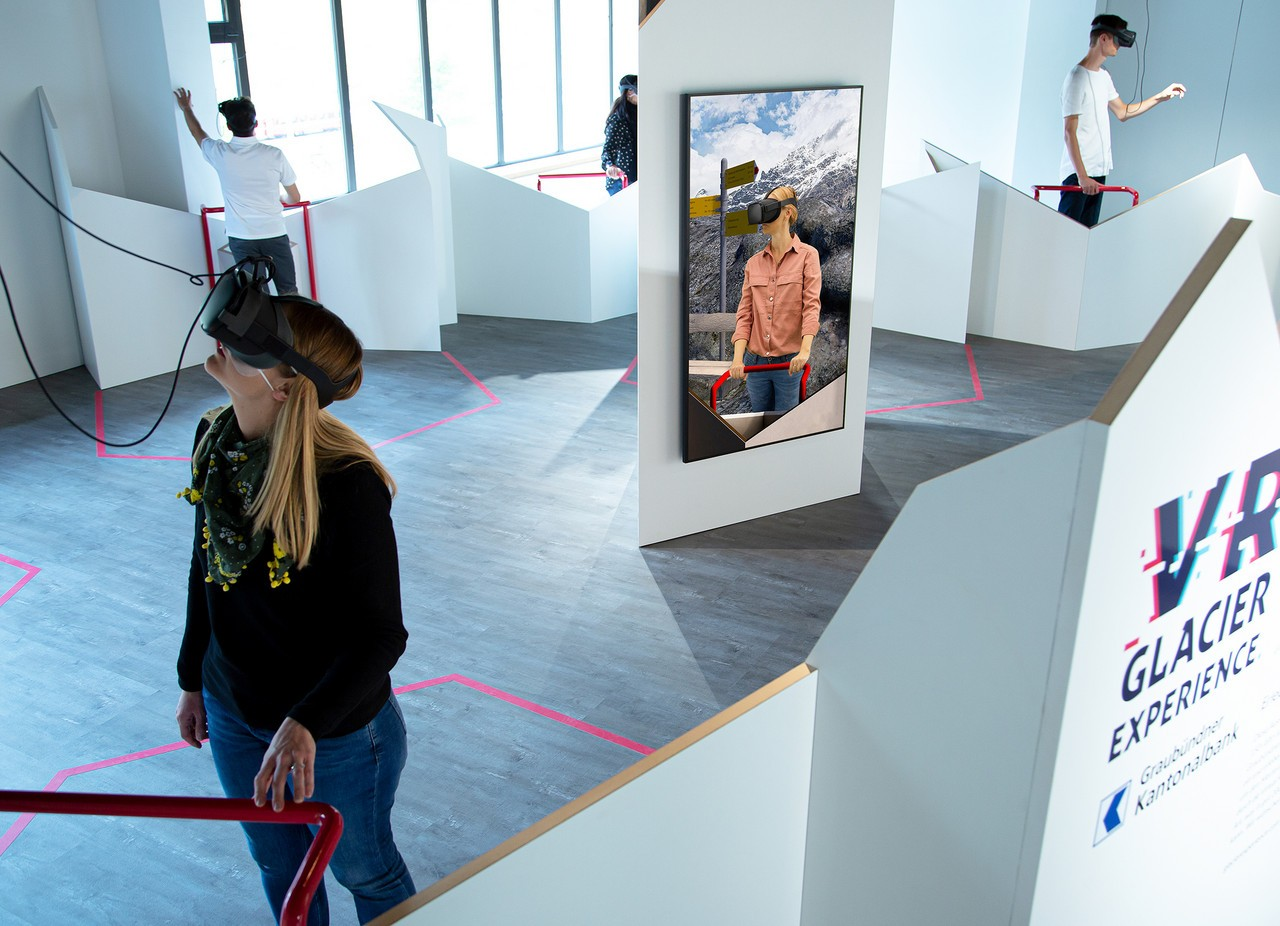 Ausstellung VR Glacier Experience in Pontresina