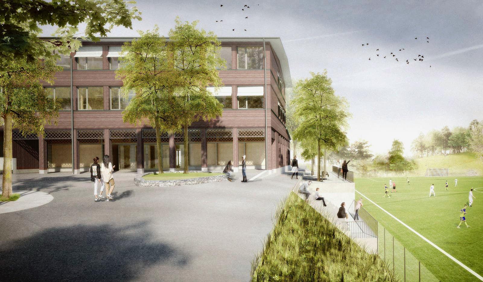 Visualisierung Neubau Sekundarschulhaus, Teufen