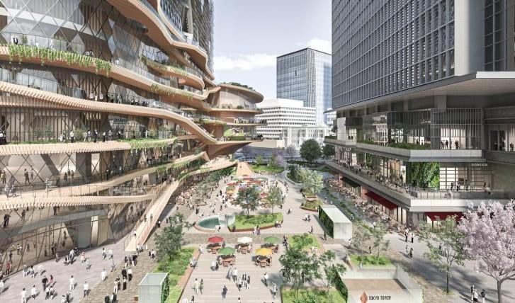 Visualisierung Öffentlicher Platz in Tokio