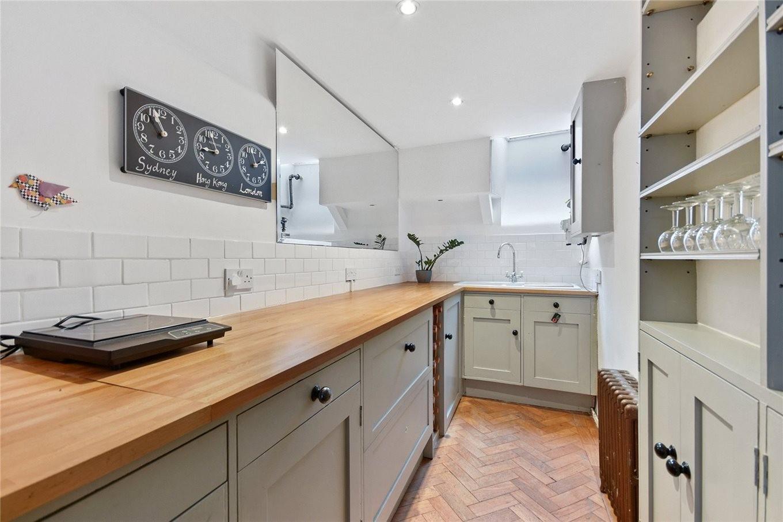 Küche im schmalsten Haus von London