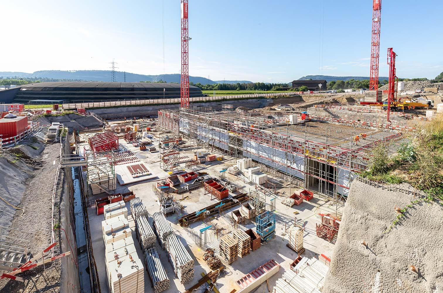 Baustelle für Neubau bei Park Innovaage im August 2020