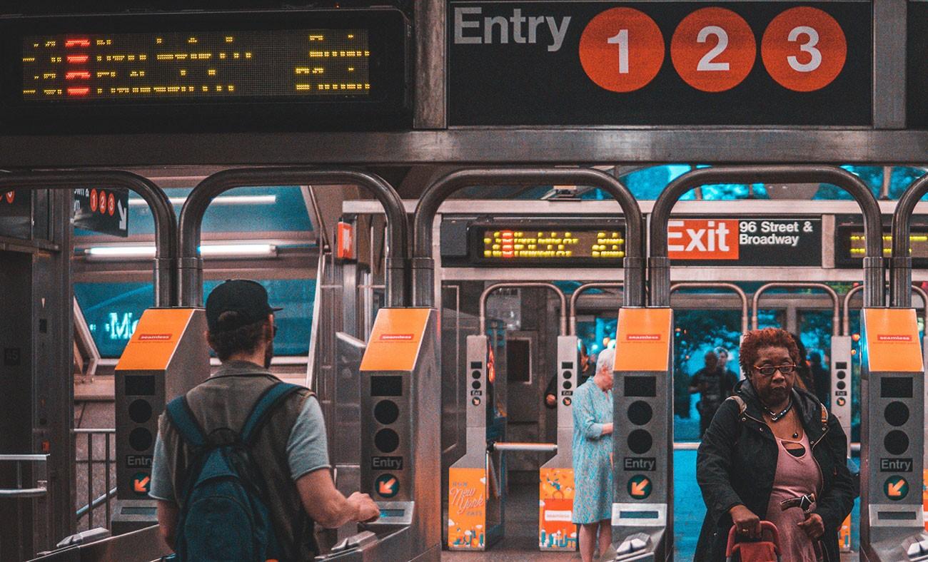 Subway, New York.