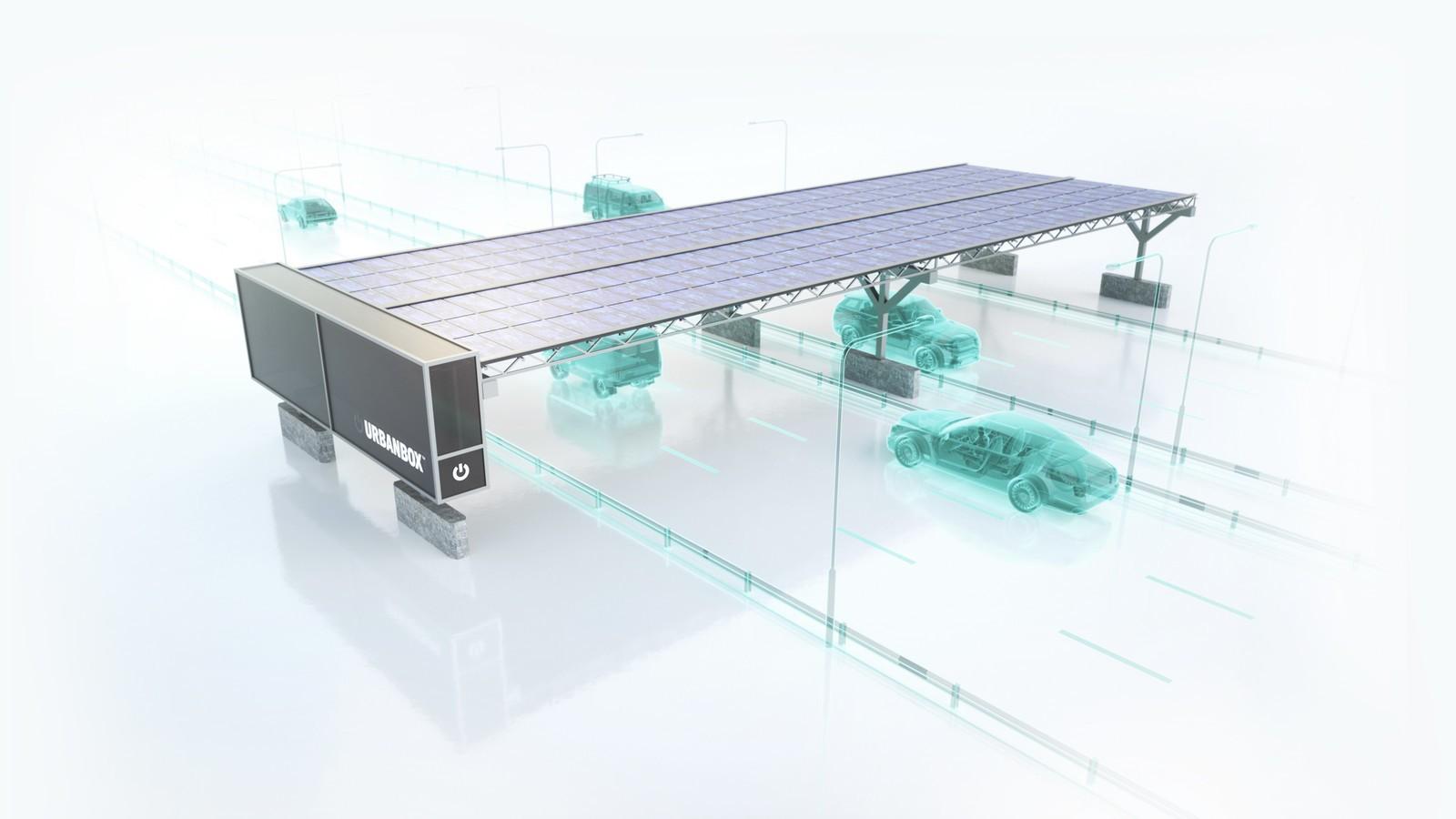 Visualisierung Solarkraftwerk über Autobahn