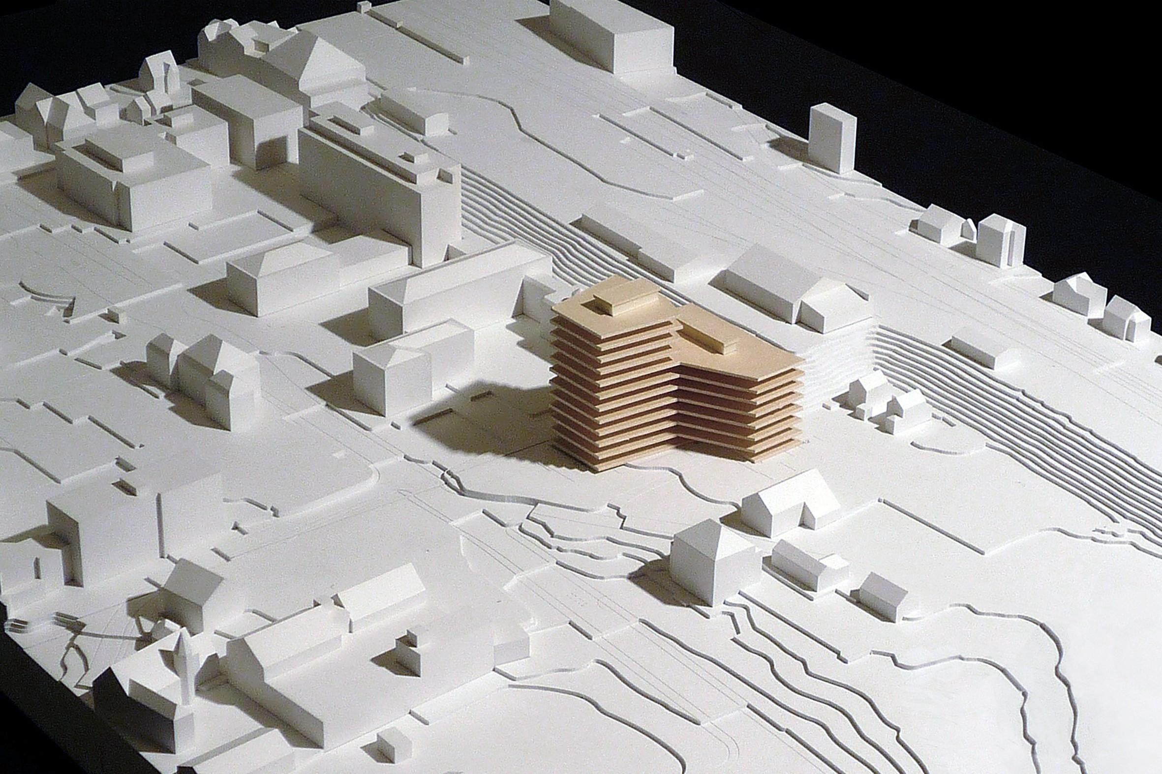 Modell des neuen Verwaltungsgebäudes in Liestal