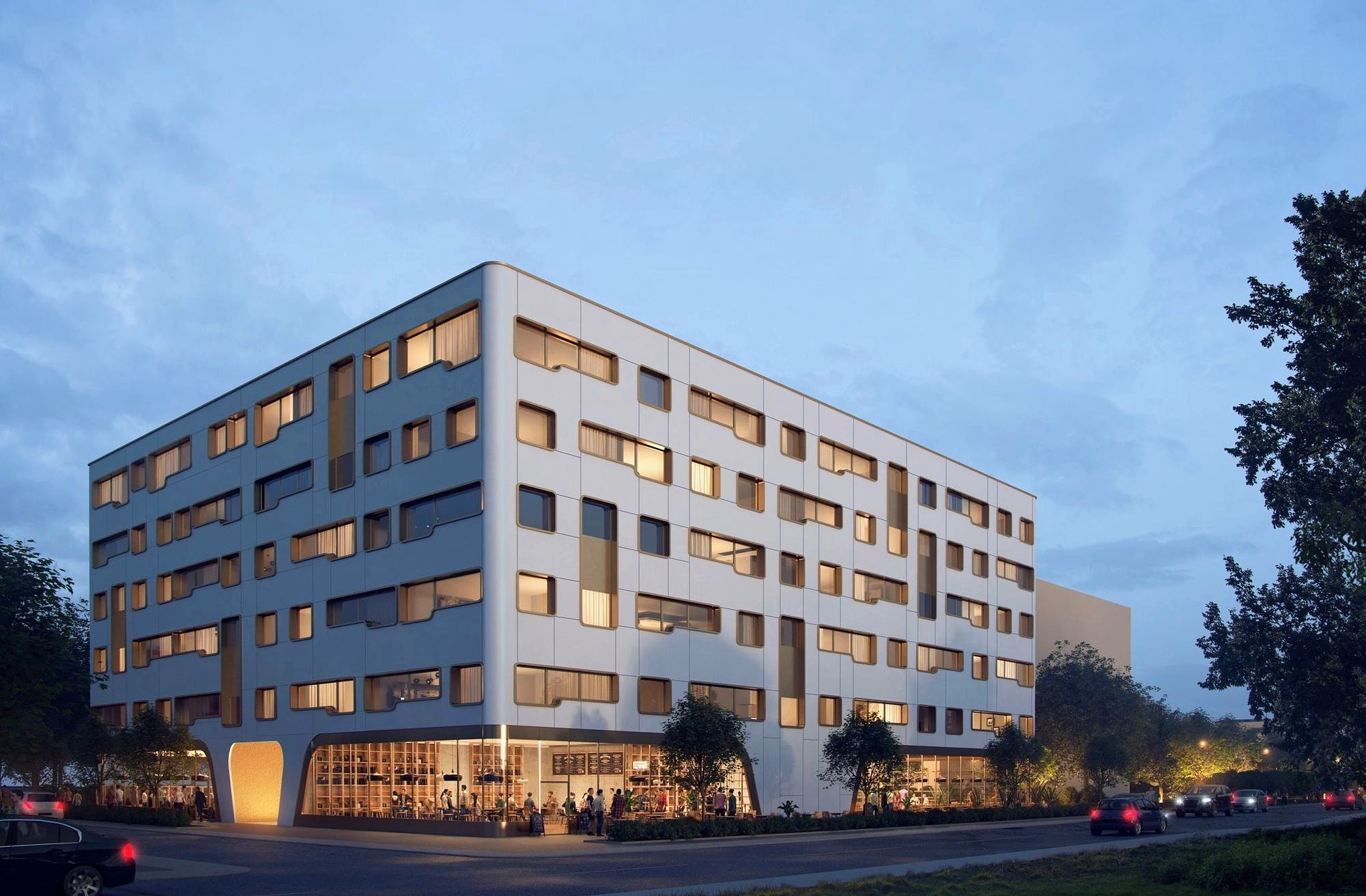 Visualisierung Businesshotel im Innovationspark Baselink