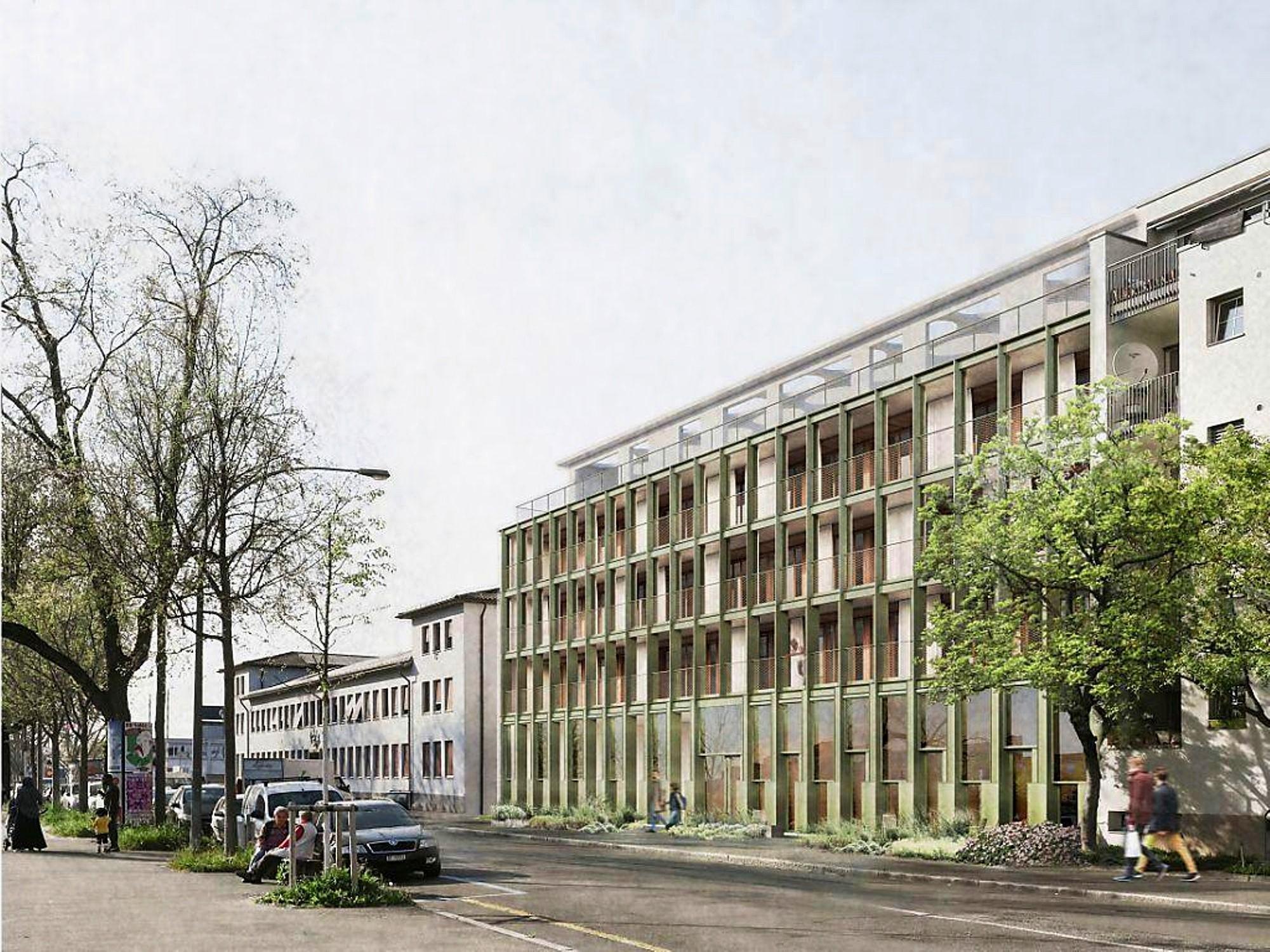 Visualisierung umgebautes Verwaltungsgebäude beim Hafen Kleinhüngingen