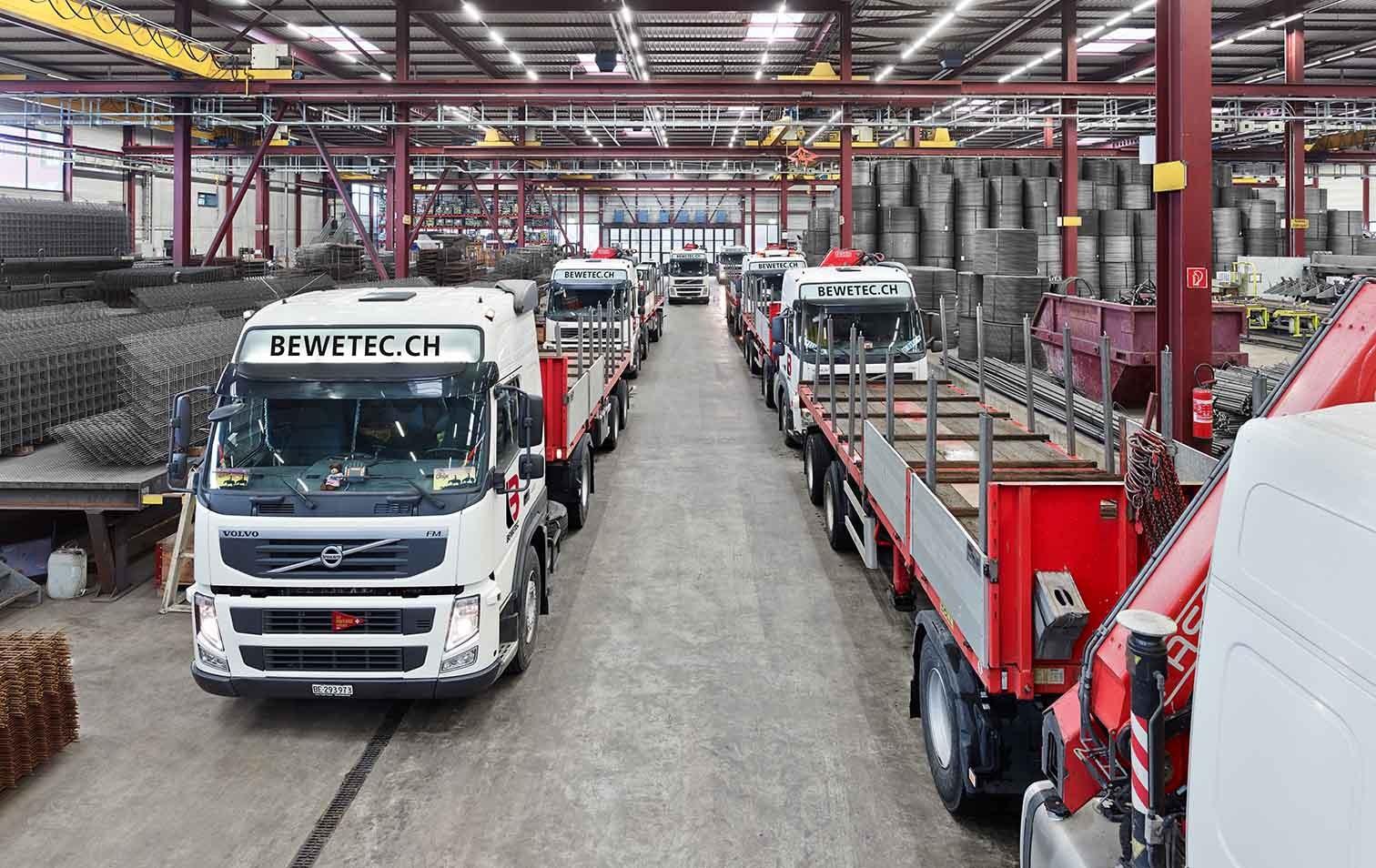 LKW-Flotte der Bewetec AG