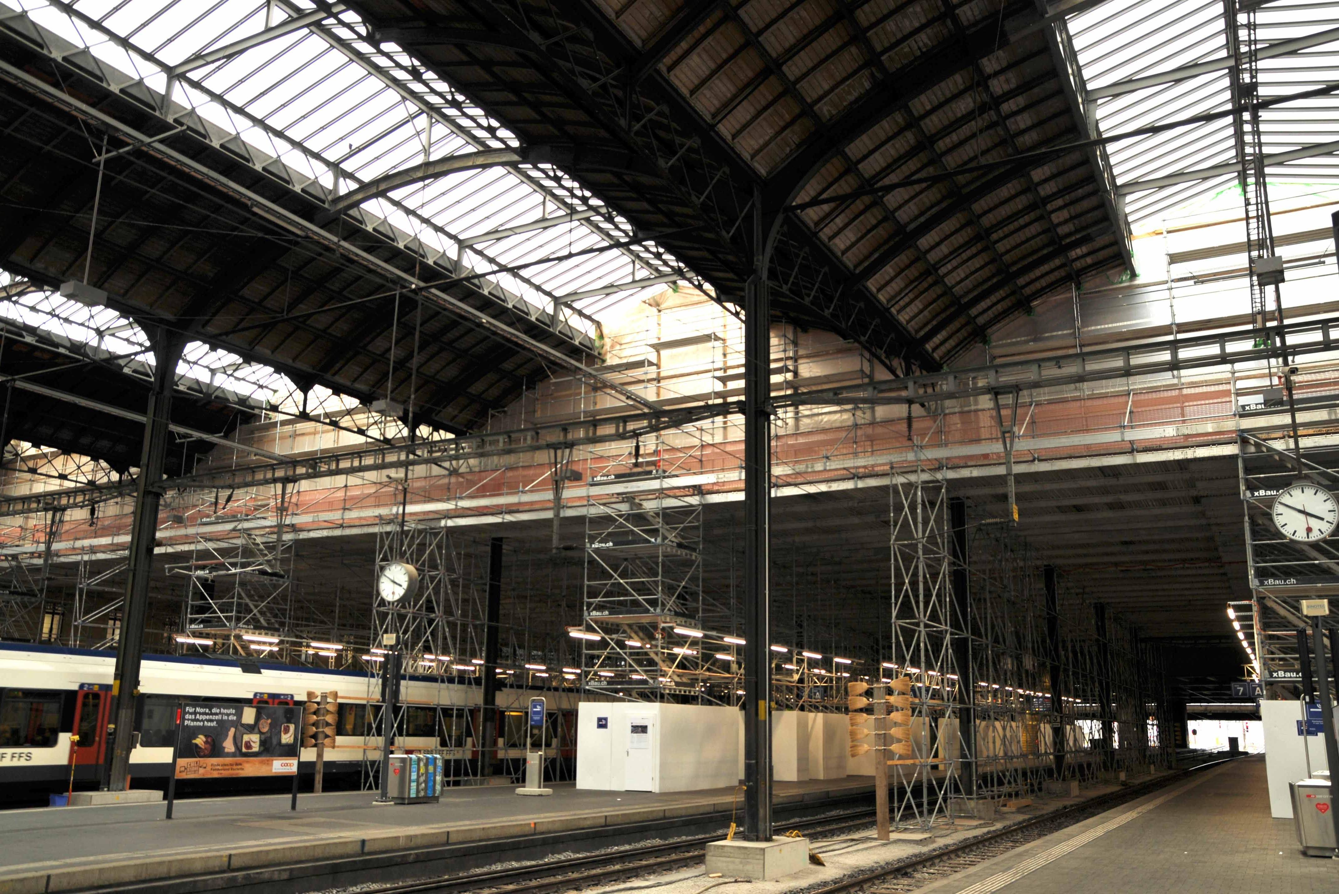 Sanierung Perronhalle Bahnhof Basel SBB