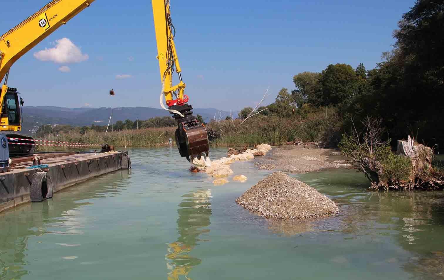 Schutzmassnahmen bei Pfahlbauten im Bielersee