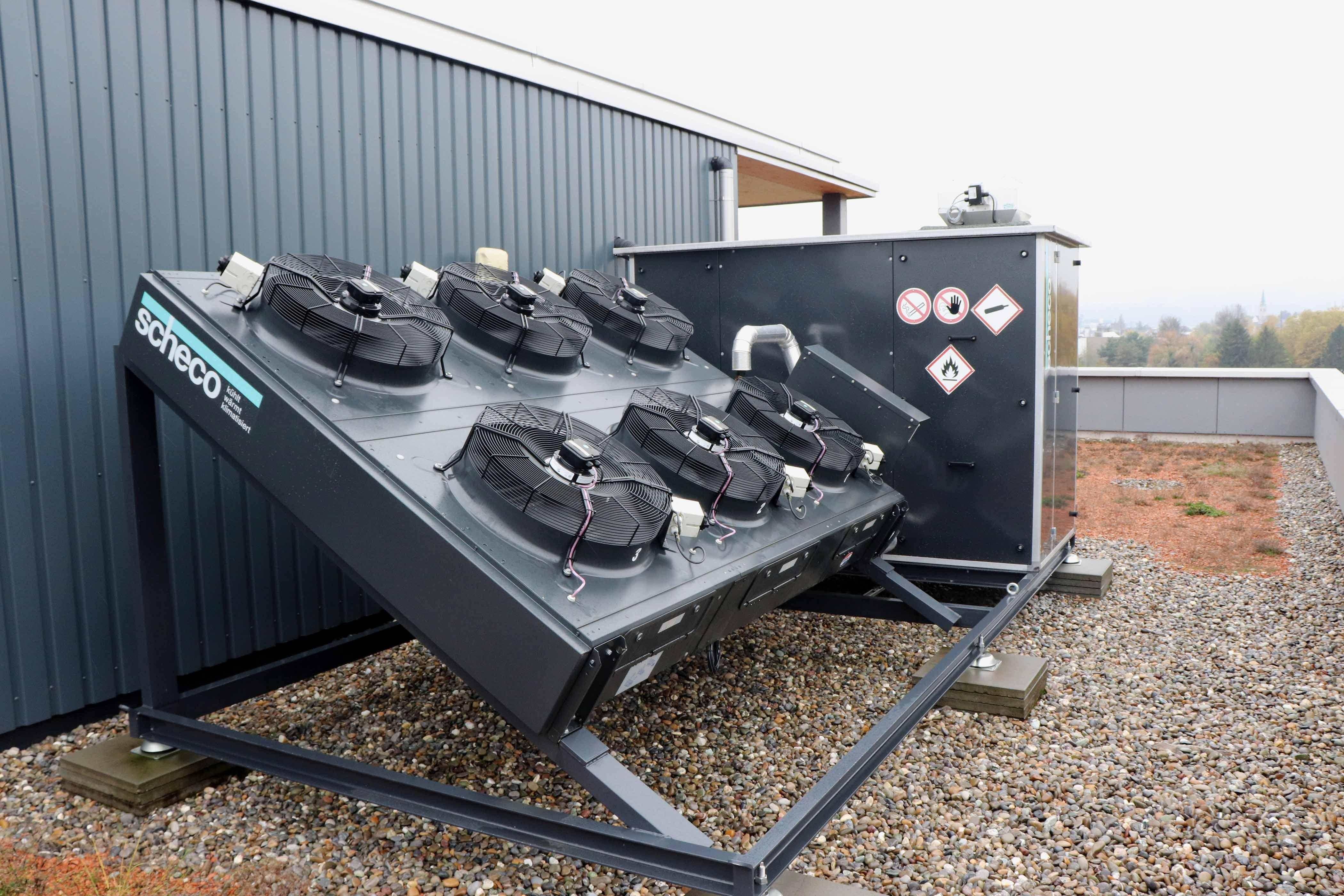 Luft-/Wasser-Wärmepumpe auf der Basis von Propan