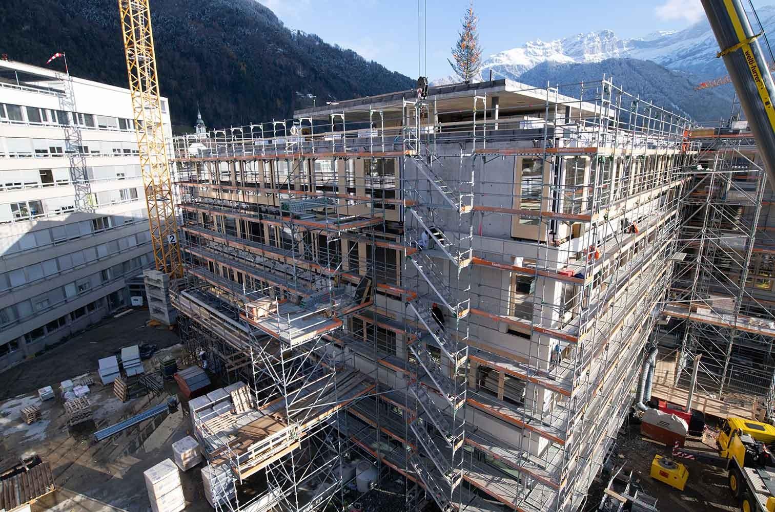 Neubau Kantonsspital Uri Rohbau