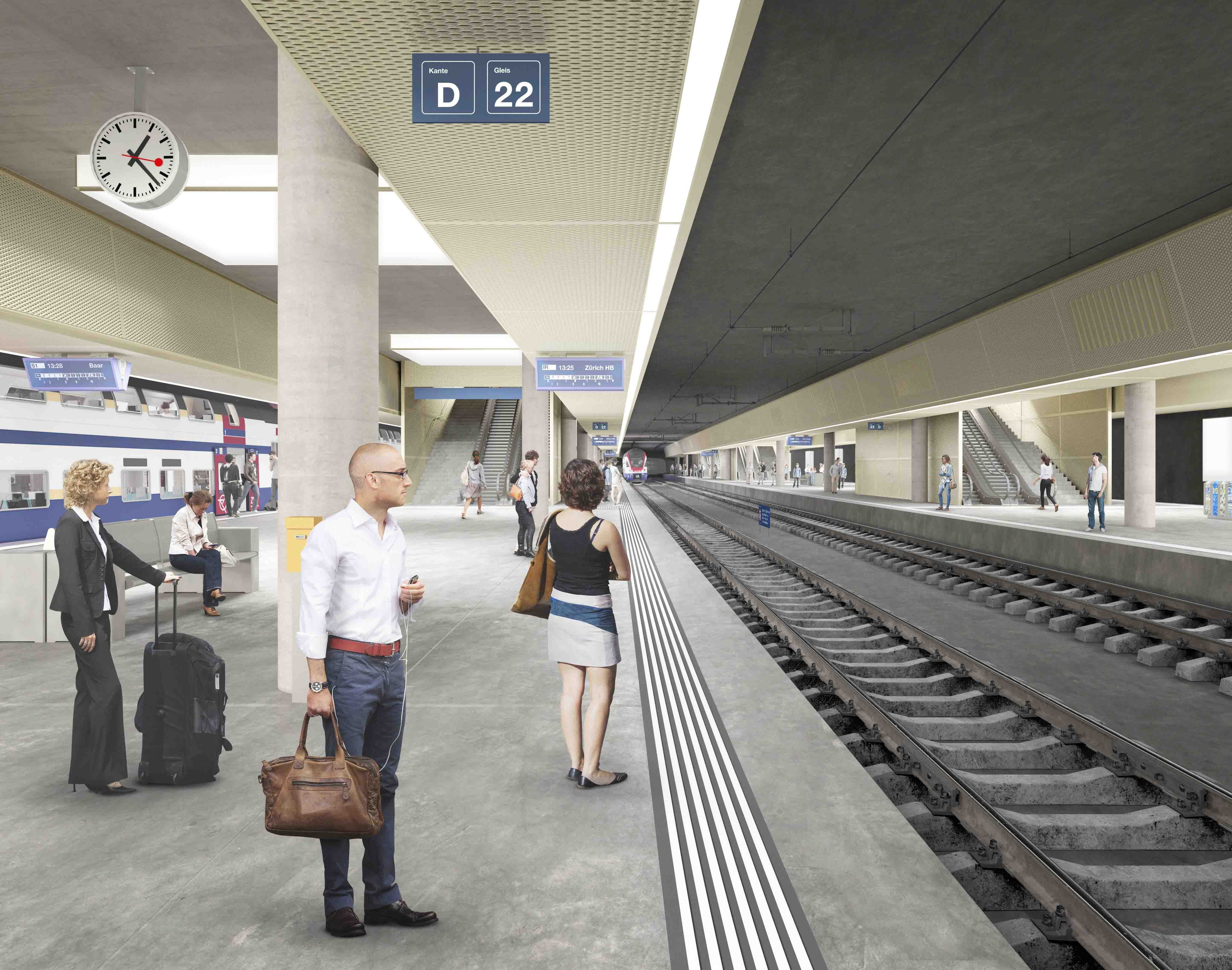 Visualisierung Durchgangsbahnhof Luzern