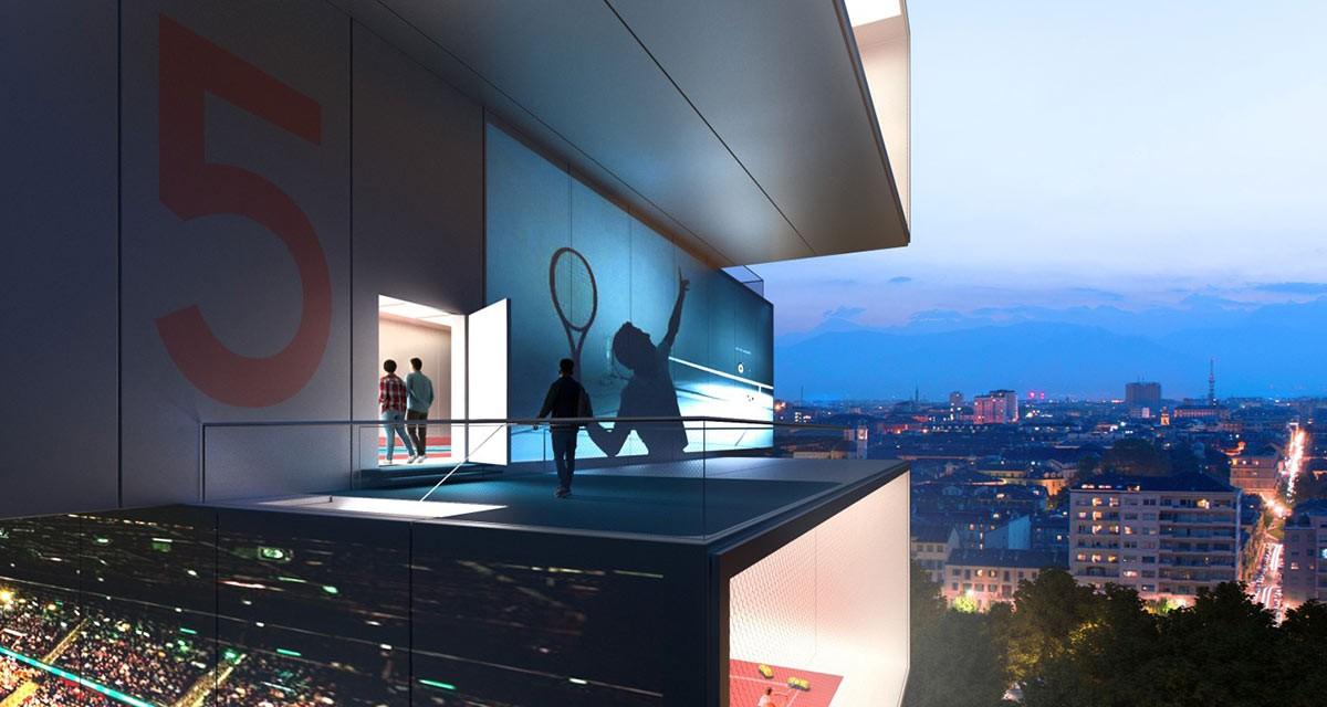 Tennis-Turm