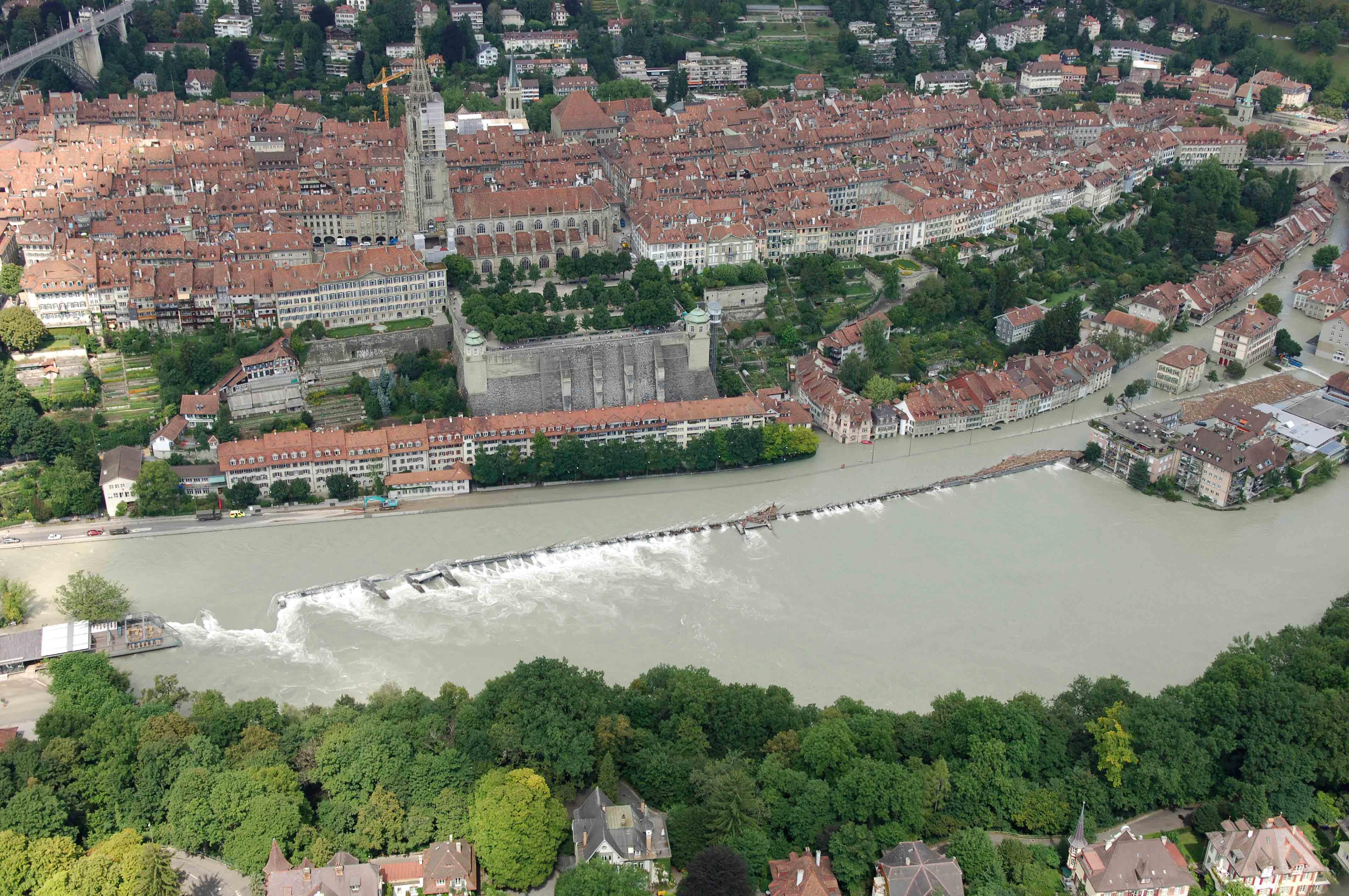 Hochwasser von 2005 in Bern