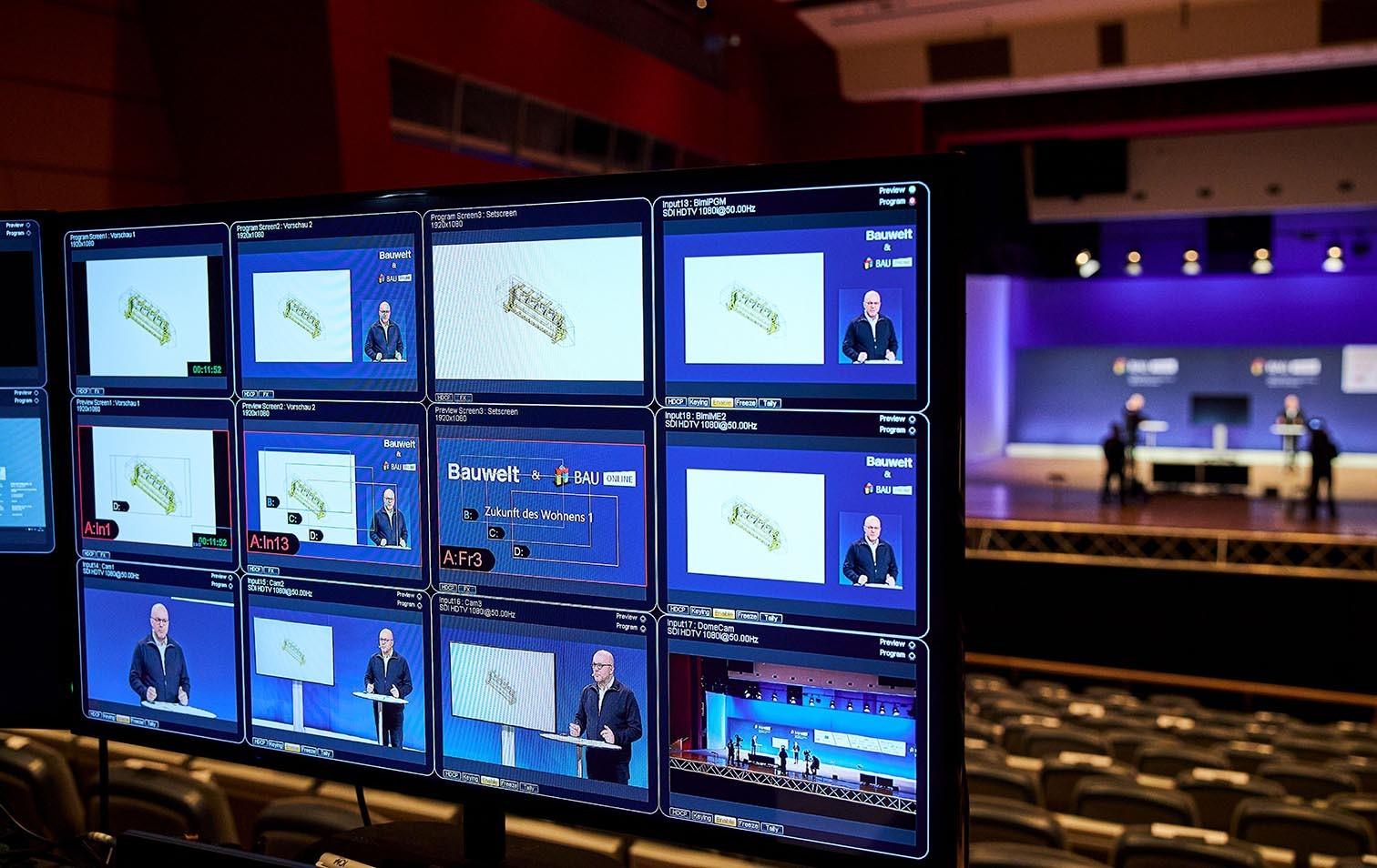 Präsentationen per Zoom-Konferenz Bau München 2021